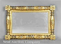 1183 American Classical Revival Gilt Overmantel Mirror