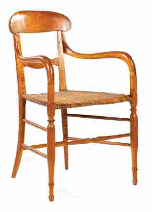 Southern Carved Maple Armchair