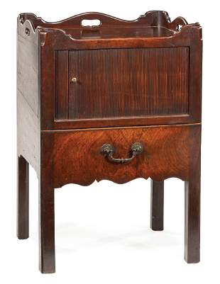 Carved Mahogany Bedside Commode