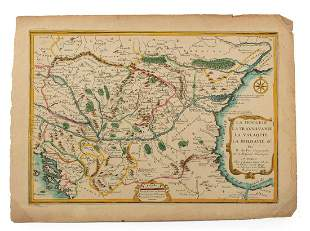 Two Antique Hand-Colored Maps