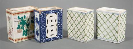 Four Chinese Porcelain Pillows