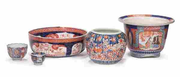Japanese Imari Porcelain Table Objects