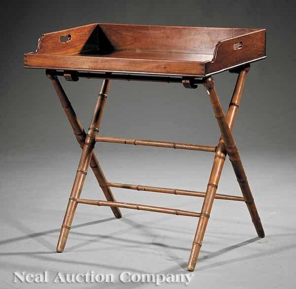 0007: A Regency Mahogany Butler's Tray on Stand