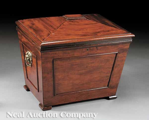 0008: George III Mahogany and Brass-Mounted Cellarette