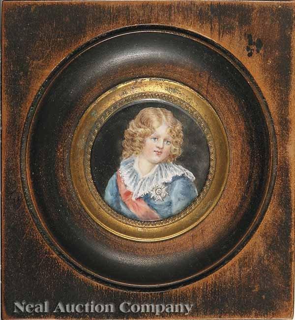 0024: Miniature of Prince Louis-Charles (Louis XVII)