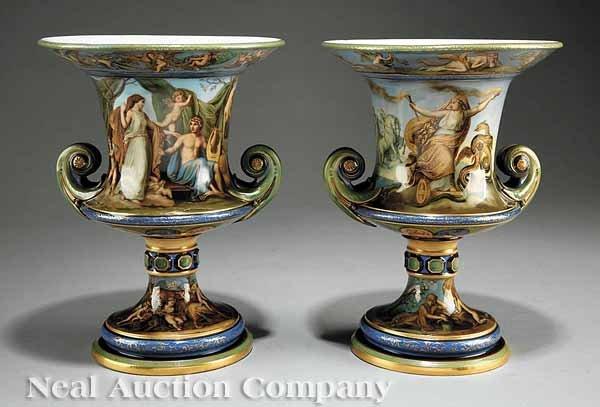 0025: Pair of Meissen Urns attr. to Carl August Müller