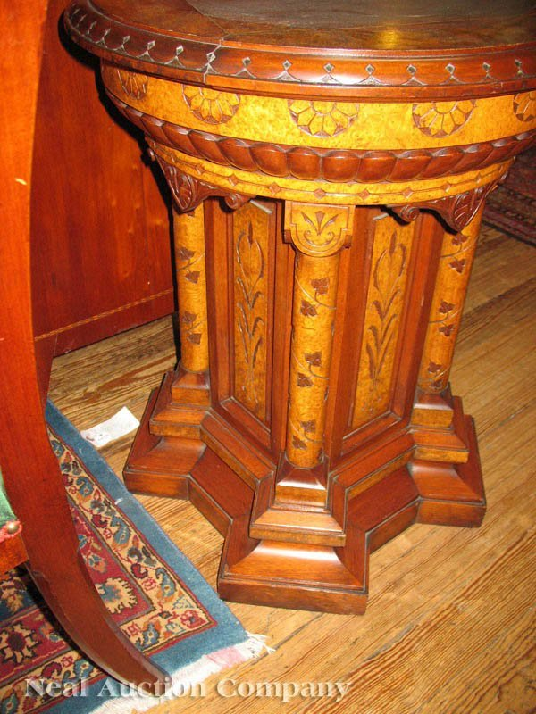 0134: Pair of Modern Gothic Pedestals, attr. to Pabst - 2