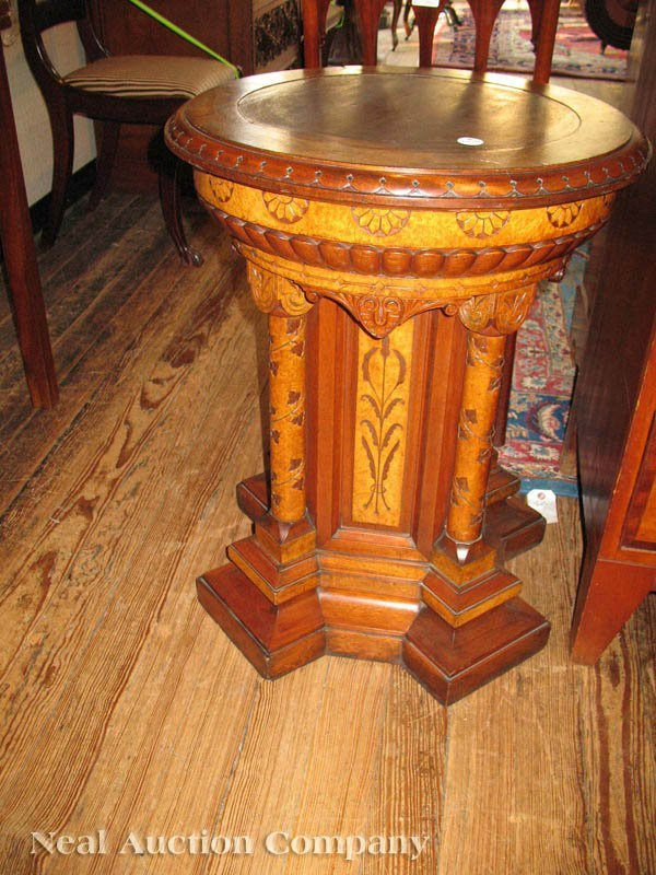 0134: Pair of Modern Gothic Pedestals, attr. to Pabst - 9