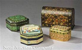 0225: A Group of Four Indian Kashmir Boxes