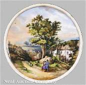 0227 A Pair of Continental Porcelain Wall Plaques