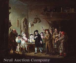 0280: In the manner of William Hogarth, oil on canvas