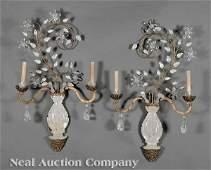 0434: Pair of Louis XVI-Style Rock Crystal Sconces