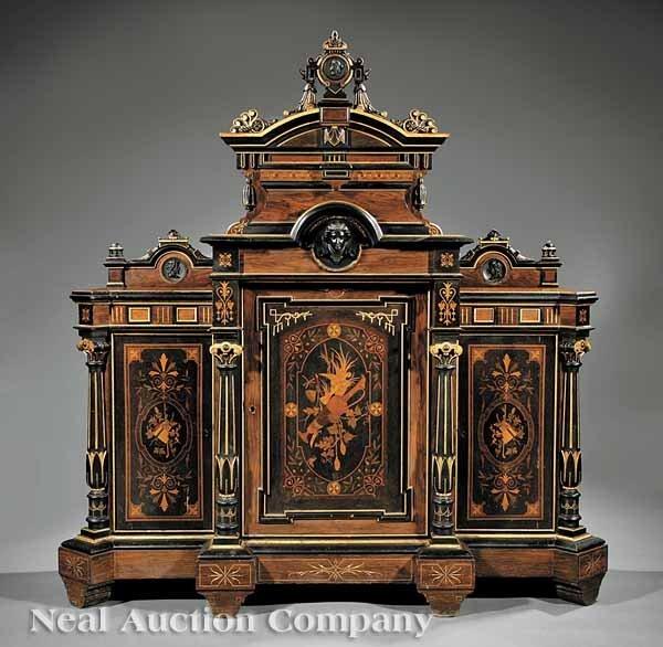 0656: A American Renaissance Inlaid Cabinet