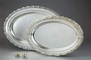 Two Tiffany Sterling Silver Oval Platters