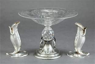 Art Nouveau Mauser Sterling Silver Vases