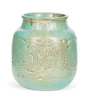 "Shearwater Art Pottery ""Duck"" Vase"