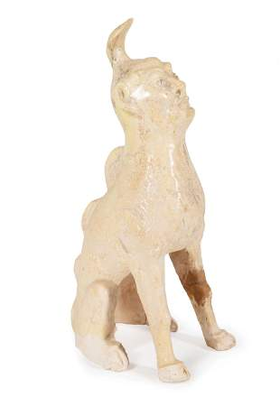 Chinese Pottery Guardian Earth Spirit