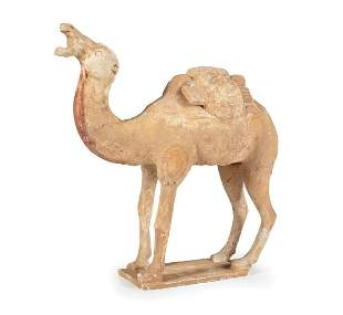 Chinese Painted Pottery Camel