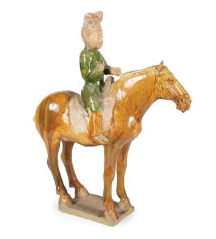Chinese Pottery Equestrian Group