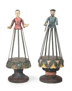 Two Spanish Colonial Cage Dolls