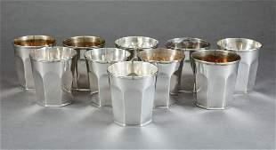 William Adams Coin Silver Julep Cups