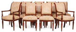 Directoire-Style Walnut Dining Chairs