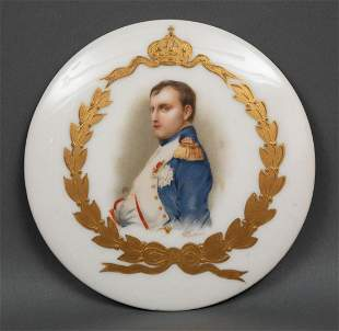 Limoges Porcelain Plaque of Napoleon