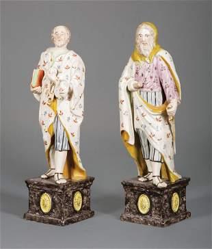 Staffordshire Polychrome Pottery Figures