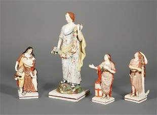 Group of Four Antique Staffordshire Figures