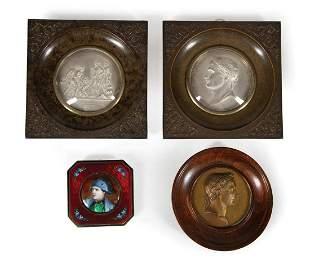 Four Antique Napoleon Medallions
