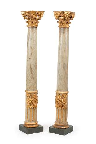 Italian Carved Wppd Columns