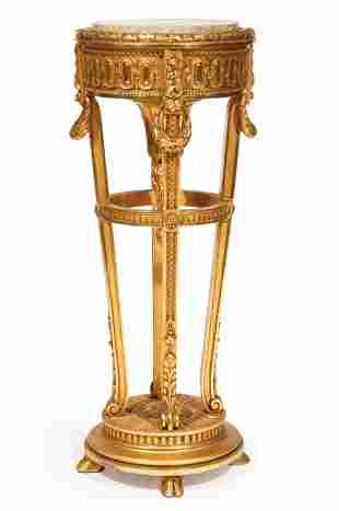 Louis XVI-Style Giltwood Torchere