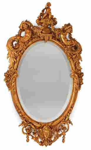 Pair of Louis XV-Style Oval Mirrors