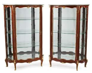 Bronze-Mounted Kingwood Vitrine Cabinets