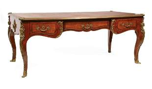 Louis XVI-Style Kingwood Bureau Plat