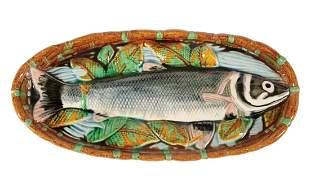 Trompe l'Oieil Majolica Fish Dish