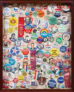 Group of American Political Buttons