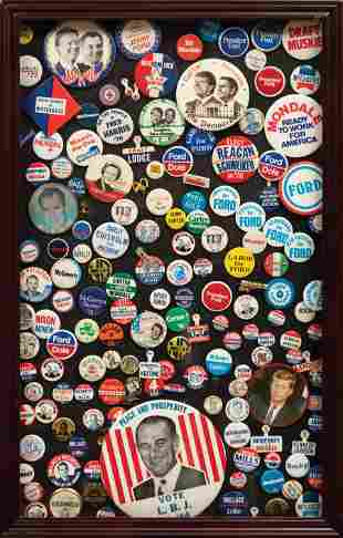 Group of American Political Campaign Buttons