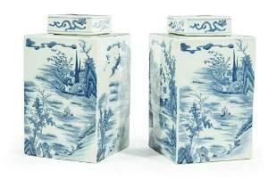 Chinese Export Porcelain Tea Caddies
