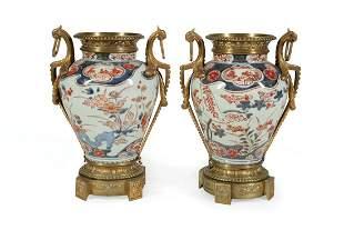 Chinese Export Imari Porcleain Vases