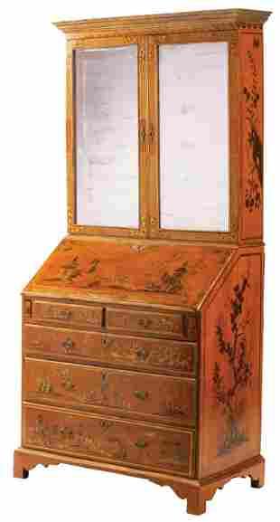 Chinoiserie Secretary Bookcase