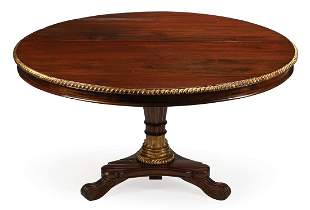 Parcel Gilt Mahogany Tilt-Top Center Table