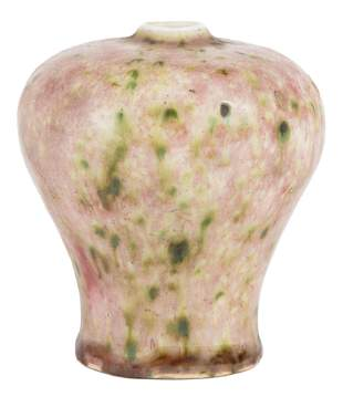 Chinese Peachbloom Glazed Porcelain Vase