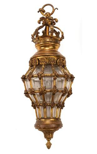 French Bronze Hall Lantern