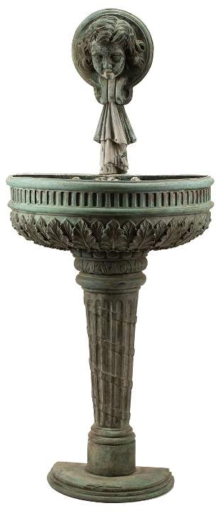 Patinated Bronze Wall Fountain