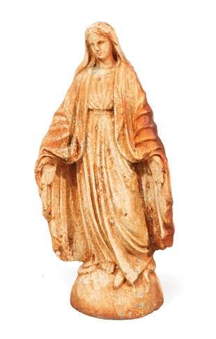 Cast Iron Garden Figure of Virgin Mary