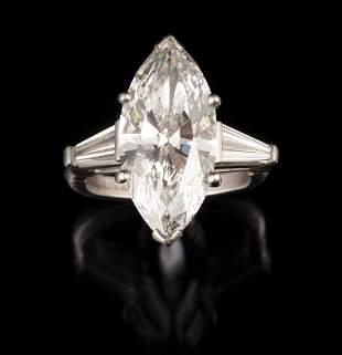 Exceptional Platinum and Diamond Ring