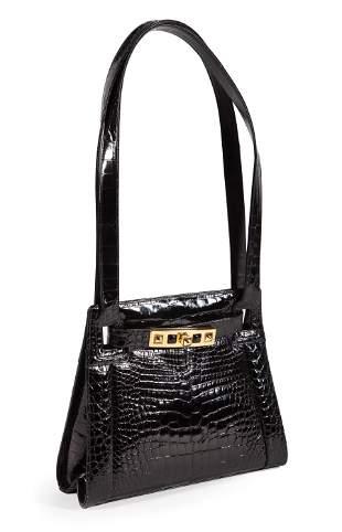 Judith Leiber Black Alligator Handbag