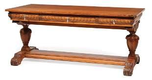American Renaissance Oak Writing Table