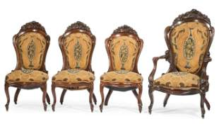 Rosewood Parlor Chairs, attr. Belter